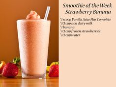 You need more whole- food nutrition. Research shows that Juice Plus+ delivers fruit and vegetable nutrition you need to maintain a healthy diet. Learn more today. Milk Shakes, Juice Plus Shakes, Strawberry Banana Smoothie, Strawberry Smoothie, Easy Appetizer Recipes, Vegetarian Recipes Easy, Delicious Recipes, Healthy Recipes, Dairy Free Diet