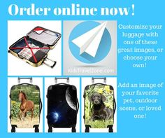 Personalize your luggage with any photo you choose! Kids Luggage, Us Images, Travel With Kids, Travel Style, First Love, Scene, Ads, Kid Stuff, Outdoor