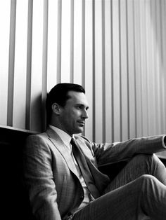 Don Draper (Jon Hamm) from Mad Men.  A serial cheater and a cold, calculating business man, Don Draper is definitely one hot mess I love watching.