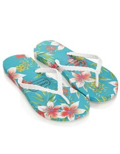 6746d802c96a59 Accessorize Womens Hawaiian Flower Gandy s Flip Flops Hawaiian Flip Flops