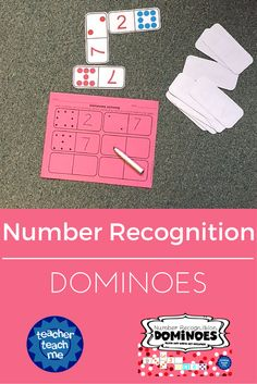Number Recognition Dominoes gives your students the ability to practice number recognition skills through a fun hands on activity!
