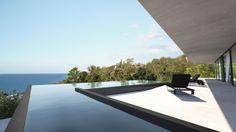 Piscine débordement - Villa contemporaine St Tropez, France