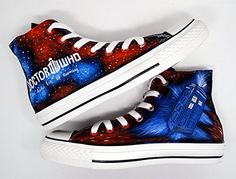 Hand painted Doctor Who Fifties Converse All-Stars