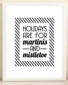 martinis & mistletoe.