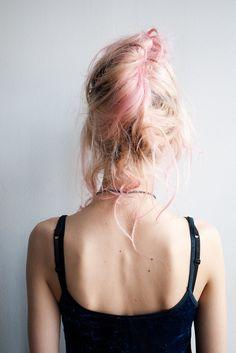 Light pink updo