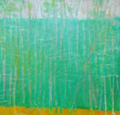 """Wolf Kahn, """"One Leaning Tree"""", 2009, Oil on canvas, 36 x 38 inches"""