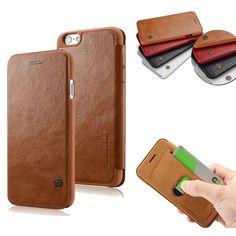 Slim Ultra Sottile di Cuoio di Lusso Flip Book con il Supporto Card Slot portafoglio case per iphone 6 6 s plus marca copertura del telefono coque Capinha
