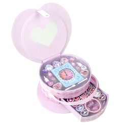 A heart shaped case, full of make up! #disneyprincess #makeup #markwins
