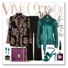"""Roberto Cavalli Beaded & Embroidered Velvet Blazer Look"" by romaboots-1 ❤ liked on Polyvore featuring Zac Posen, Roberto Cavalli, Marco de Vincenzo, Oscar de la Renta, Yves Saint Laurent and NARS Cosmetics"