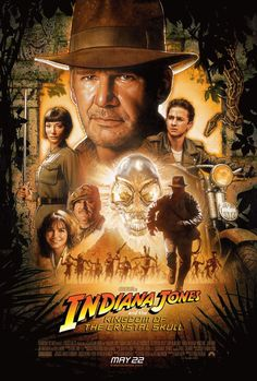 Indiana Jones and the Kingdom of the Crystal Skull.  2008.  Even in Drew Struzan's art, Harrison Ford still just looks like a grumpy old man.