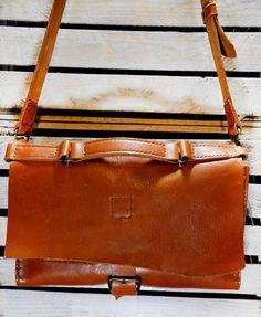 Leather bag handmade handbag messenger bag by GOMAleatherwork