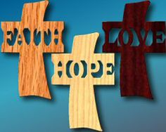 Faith Hope Love by YourPortraitInWood on Etsy, $28.00