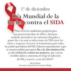 01/Dic. Día Mundial de la Lucha contra el SIDA. Crear conciencia para una generación #LibreDeSIDA