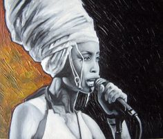 'Erykah Badu' oil painting