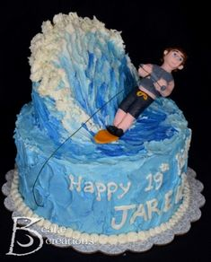 Water Skiing Cake
