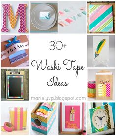 30+ Washi Tape Ideas {round-up} | #DIY #crafts #washitape