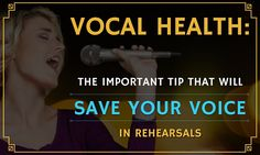 Vocal Health: The Important Tip That Will Save Your Voice in Rehearsals Singing Classes, Singing Lessons, Singing Tips, Breathe In The Air, Feeling Under The Weather, Vocal Coach, Adventure Quotes, Lessons For Kids, Your Voice