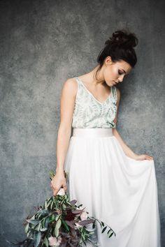 Labude Zweiteiler - Brautensemble Top Cora und Rock Charlotte Lässiger Bohostil Brautkleid mit Farbe Foto: Doreen Kühr