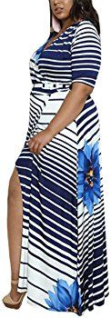 CACNCUT Women's Plus Size Dress, Big Size Maxi Dress for Women Sexy Evening Bodycon Dresses(20W, Blue) at Amazon Women's Clothing store: Big Size Dress, Thing 1, Sexy Women, Bodycon Dress, Plus Size, Amazon, Store, Clothing, Blue
