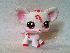Christmas Candy Cane * OOAK Hand Painted Custom Littlest Pet Shop