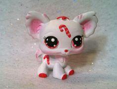 Christmas Candy Cane * OOAK Hand Painted Custom Littlest Pet Shop