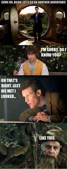 OH MY WORDDDDD #doctorwho #hobbit