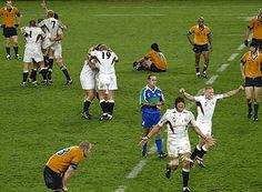 Final whistle at the 2003 Rugby World Cup Final