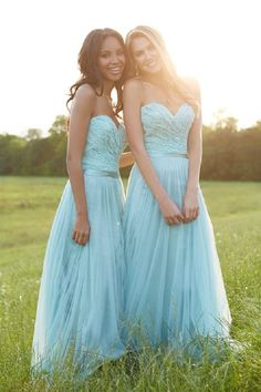 Wedding dresses for bridesmaids light blue