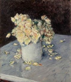 Yellow Roses in a Vase by Gustave Caillebotte, 1882. Crafts For 3 Year Olds, Safari, Wall Art Prints, Canvas Prints, Painted Cups, Rose Vase, Muse Art, Old Art, Yellow Roses