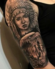 Ideas tattoo wolf sleeve native american - Ideas tattoo wolf sleeve native american You are in the right place about Ideas tattoo wolf - Red Indian Tattoo, Native Indian Tattoos, Indian Skull Tattoos, Indian Tattoo Design, Native American Tattoos, Indian Girl Tattoos, Tattoos 3d, Eagle Tattoos, Trendy Tattoos
