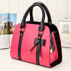 Fashion Style Lady Handbag Little Bow Beige Rose Leisure Shoulder Bag Purs New