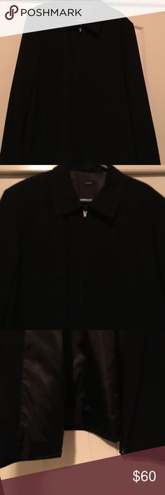 NWOT Men's lined Alfani zip up Mens zip up jacket, lined.  Can be worn for dress or casual.  Beautiful mens jacket.  Price is firm.  This was very expensive.  Purchased at Nordstrom Men's in SF.  Has one inside pocket and outside pockets as well. Alfani Jackets & Coats