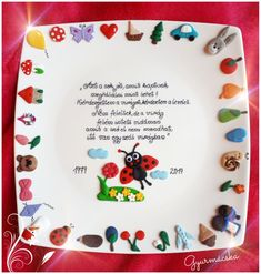 Plates, Tableware, Fimo, Children Garden, Licence Plates, Plate, Dinnerware, Dishes, Dish
