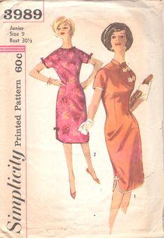 1960er Jahren Einfachheit 3989 Misses Cheongsam von mbchills