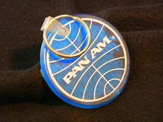 Pan Am Airlines Key Chain Blue Collectible by heritagetrade, $10.00