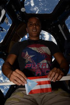 Astronaut Joe Acaba says it was very difficult to see the island of Puerto Rico from space after Hurricane Maria swept through the region on Sept. 20.