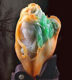 Jade-carving master Wang Chaoyang Wang Chaoyang, a jade-carving artist trained in Beijing , creates a piece of his own design in Ruili, a. Pottery Sculpture, Bronze Sculpture, Sculpture Art, Imperial Jade, Exotic Art, Feminine Mystique, Jade Stone, Minerals And Gemstones, Rocks And Gems
