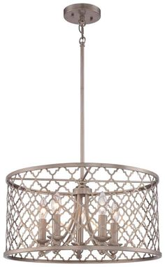 View the Minka Lavery 4165-584 5 Light Full Sized Pendant at LightingDirect.com.