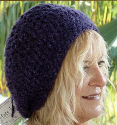 Purple Hat Original Handcrafted Crochet Unique by hatsbyanne1942