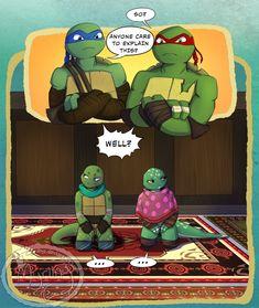 TMNT - Like fathers like. by Myrling on DeviantArt Ninja Turtles Art, Teenage Mutant Ninja Turtles, Ninja Turtle Bathroom, Tortugas Ninja Leonardo, Big Heroes, Tmnt Swag, Turtle Tots, Tmnt Comics, Anime Vs Cartoon