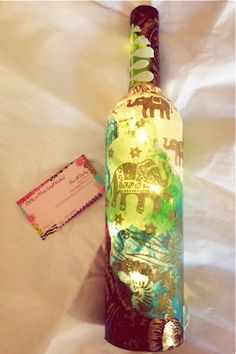 NEW Wine Bottle Light Custom Order Wine by cutelittlecanvases, $40.00