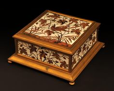 Ferdinand DUVINAGE - Jewelry box with ivory and wood marquetry. Available on Marc Maison 's website #19thcentury #frenchantiques