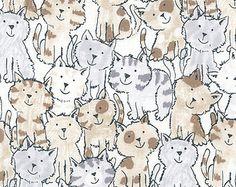 cat fabric – Etsy CA