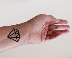 Large Diamond Tattoo Temporary Set of 2