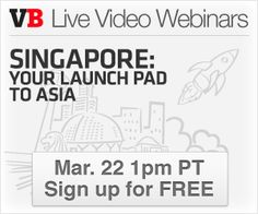 VentureBeat has teamed up with The Infocomm Development Authority of Singapore (IDA) to host a live video webinar in which CEOs of promising US companies will share tips and pitfalls to tackling the Southeast Asian market, and why they've decided on Singapore for their overseas expansion.
