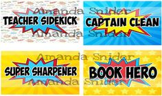 Your students will love superhero jobs! I printed out on cardstock I cut them out and laminated them. I added magnetic tape to the back of each