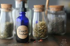 Deep Sleep Tincture Recipe  - Uses calming herbs that are generally considered beneficial for adults and children, which I love because it can be used by our whole family.