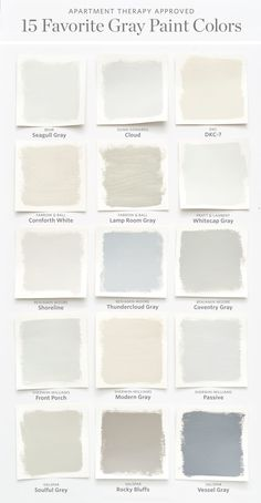 It's easy to second guess yourself when it comes to picking paint. Let us help guide your way to picking your near gray wall color.Color Cheat Sheet: The Best Gray Paint Colors Interior Paint Colors, Paint Colors For Home, House Colors, Paint Colours, Interior Design, Nursery Paint Colors, Small Bedroom Paint Colors, Modern Paint Colors, Interior Painting