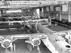 B-24 Liberator Production Line