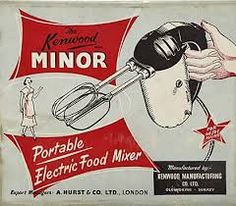 Kenwood Minor Packaging An image of a red, black and white advert for a food mixer during the century Vintage Packaging, Vintage Labels, Vintage Ads, Vintage Designs, Food Packaging, 1950s Advertising, 1950s Ads, Vintage Advertisements, Vintage Appliances